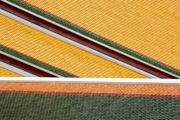 Détail du toit du temple en thaïlande