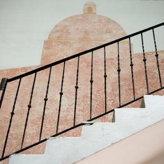 Détail de l'escalier, zona centro, san miguel de allende, guanajuato, mexique