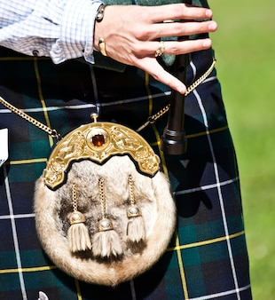 Détail d'une exposition de cornemuse pendant les highland games