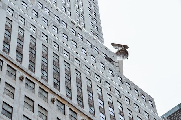 Détail extérieur du bâtiment chrysler à new york.