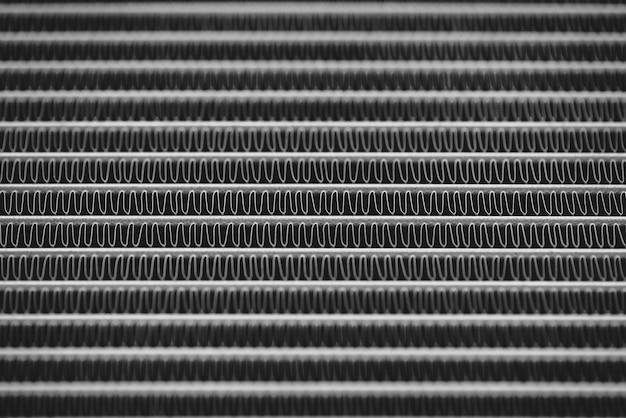 Détail de fond en métal monochrome