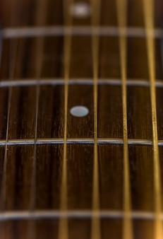 Détail de la guitare acoustique