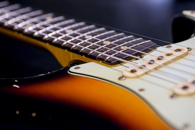 Détail de la guitare vintage