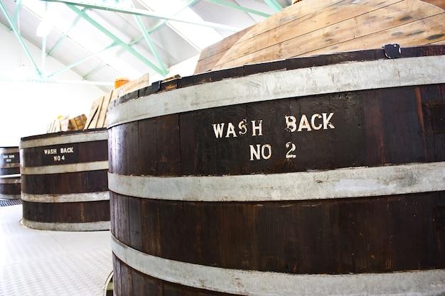 Détail d'un intérieur de distillerie de whisky, sutherland, ecosse