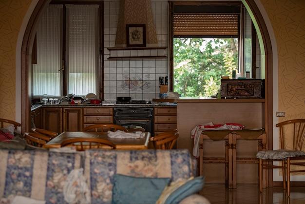 Détail de l'intérieur de la maison dans une maison commune