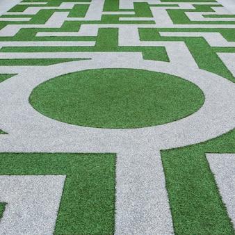 Détail d'un labyrinthe d'herbe