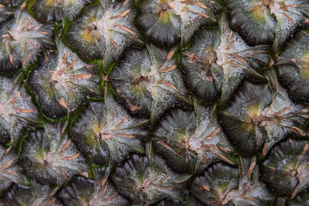 Détail de macro de fruit d'ananas