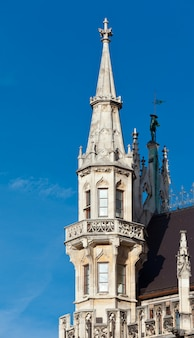 Détail de la mairie sur la marienplatz