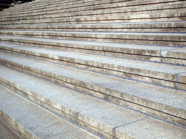 Détail des marches d'escalier