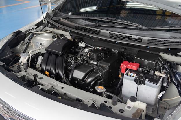 Détail d'un moteur automobile moderne