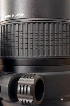 Détail de l'objectif du zoom de la caméra