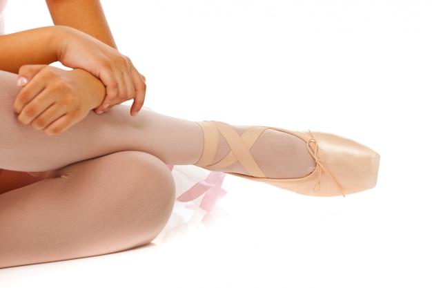 Détail des pieds de la danseuse