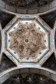 Détail de plafond de l'église, sanctuaire d'atotonilco, san miguel de allende, guanajuato, mexique