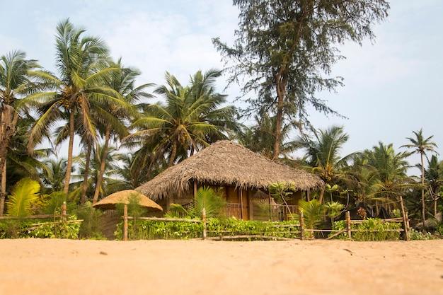 Détail de la plage d'agonda à goa, inde