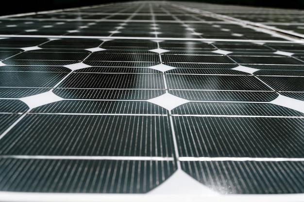 Détail et plan rapproché de panneau de batterie de cellule solaire