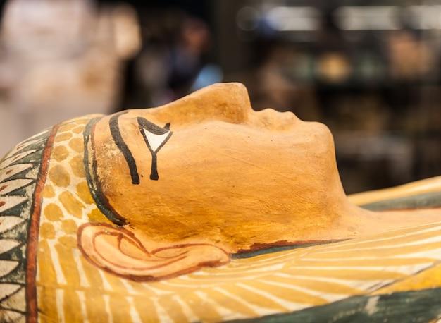 Détail d'un sarcophage égyptien original