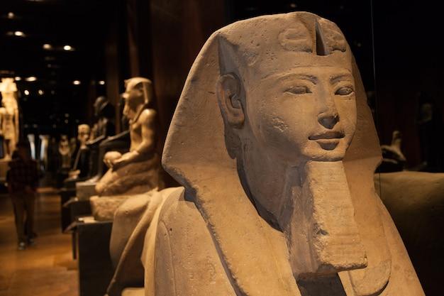Détail d'un sphinx égyptien - période ramesside