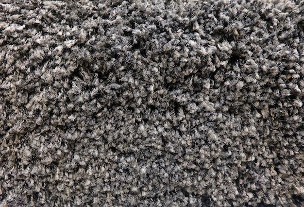 Détail de la texture du tissu noir moelleux