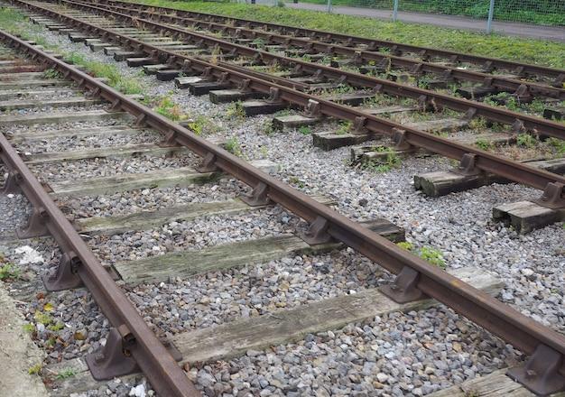 Détail de la voie ferrée