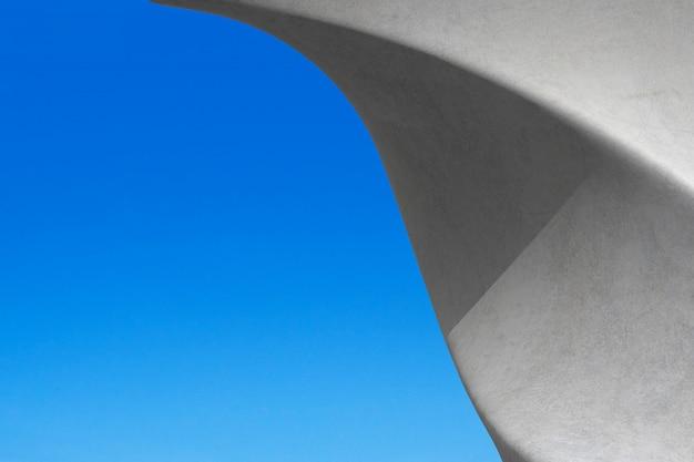 Détails abstraits du bâtiment d'architecture en béton minimal