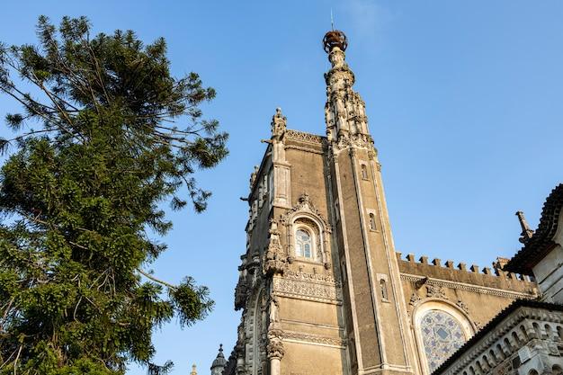 Détails et coins du palais bucaco au portugal