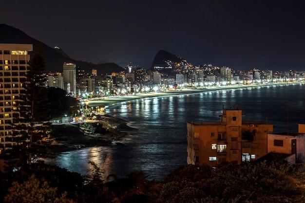 Détails de la colline vidigal à rio de janeiro - brésil