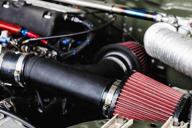 Détails du moteur de voiture