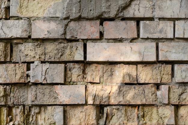 Détails du mur de brique vieilli texturé. peut être utilisé comme arrière-plan.