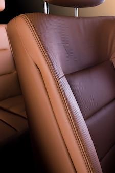 Détails du siège auto en cuir