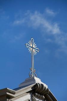 Détails d'une église de petite ville