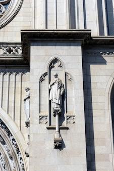 Détails externes de la cathédrale métropolitaine de sao paulo