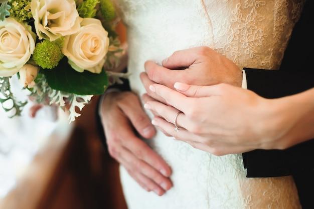 Détails de mariage belle mariée