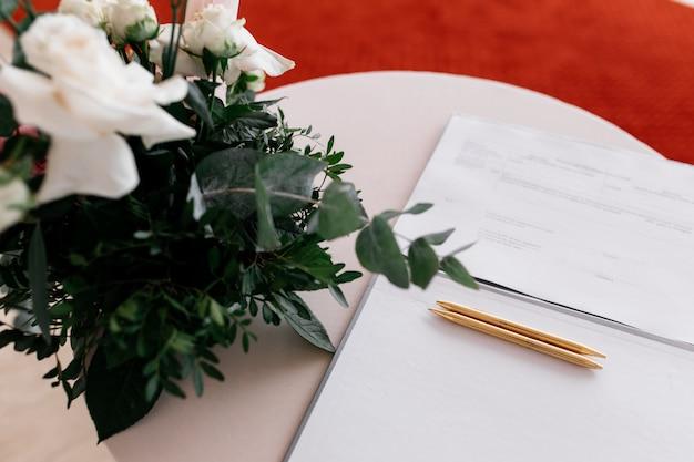 Détails d'un mariage d'enregistrement