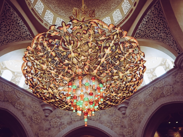 Détails de la mosquée sheikh zayed à abu dhabi