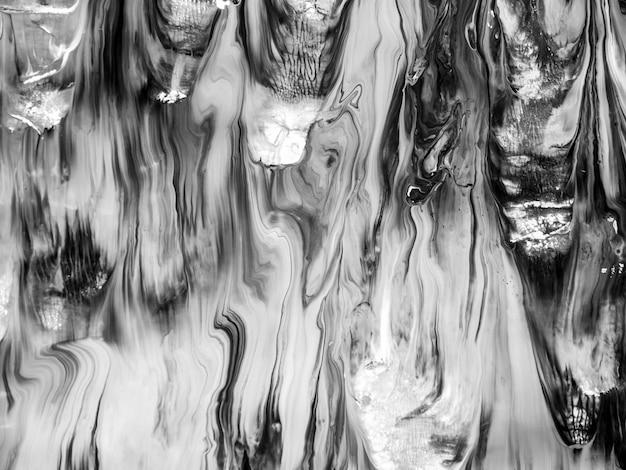 Détails de peinture noir et blanc