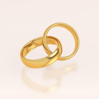 Deux bagues de mariage en or
