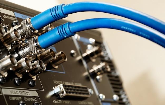Deux câbles vidéo hd sdi