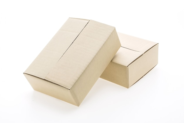 Deux carton d'emballage