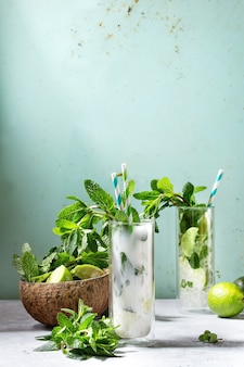 Deux cocktails mojito