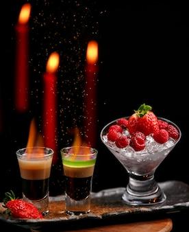 Deux coups de feu avec délice aux fraises