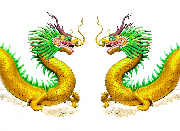 Deux dragons d'or