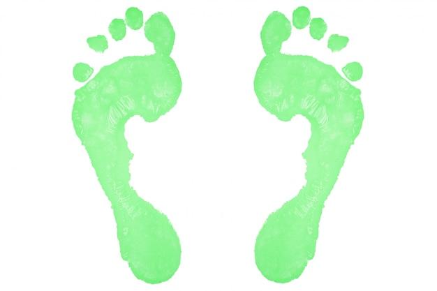 Deux empreintes vertes