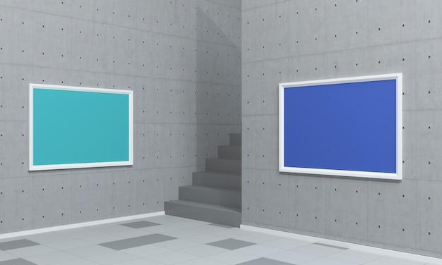 Deux enseignes intérieures