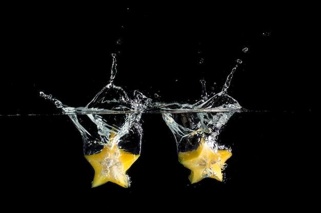 Deux fruits splash star jaune