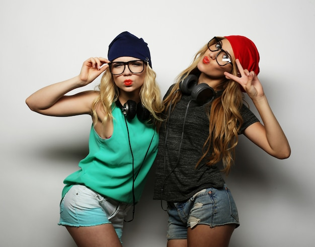 Deux meilleures filles filles hipster