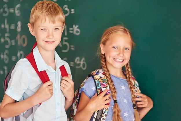 Deux meilleurs élèves de l'école