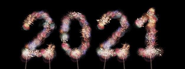 Deux mille vingt numéros fabriqués à partir de feux d'artifice