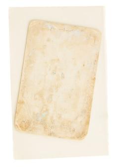 Deux pages âgées isolés sur blanc