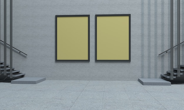 Deux panneaux jaunes intérieurs