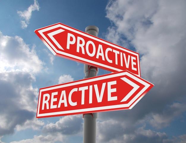 Deux panneaux de signalisation - choix réactif proactif
